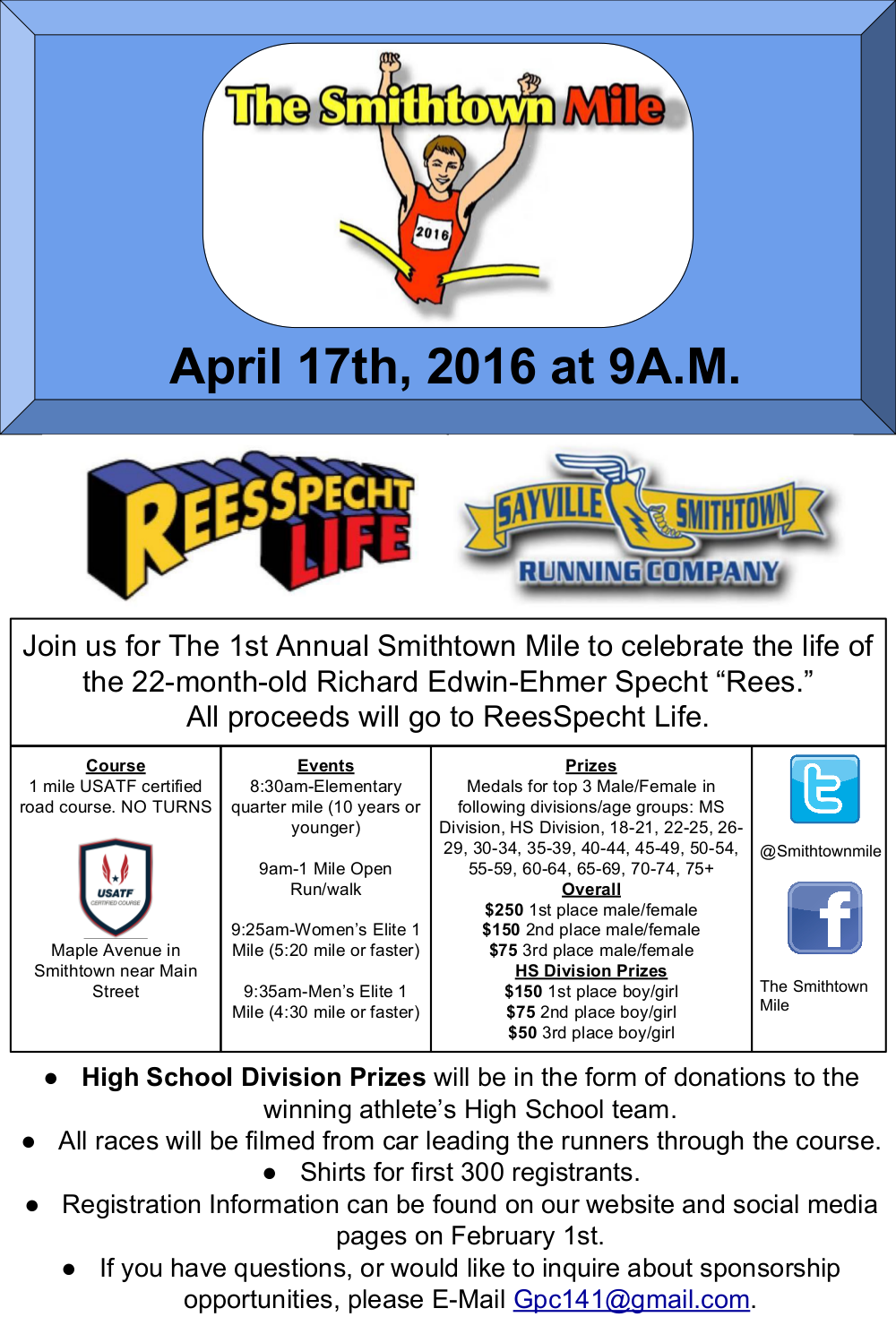 The Smithtown Mile