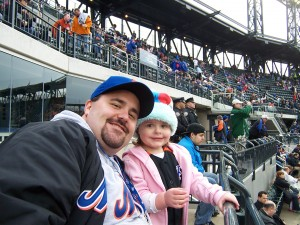 Abby and I at the first game ever played at Citi-field
